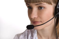 Customer support operator woman Royalty Free Stock Photo