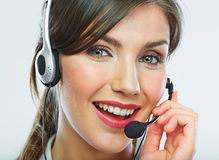 Customer support operator. Woman face. Royalty Free Stock Photos