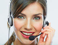 Customer support operator. Woman face. Royalty Free Stock Photo