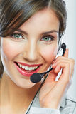 Customer support operator. Woman face. Stock Photos