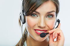 Customer support operator. Woman face. Stock Image