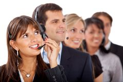 Customer support operators Stock Photos