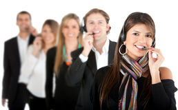 Customer support operators Stock Image