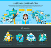 Customer Support Page Design Stock Photos