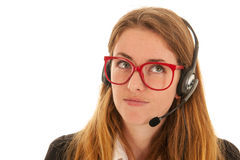 Customer support on the phone Royalty Free Stock Photography