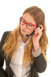 Customer support on the phone Royalty Free Stock Images