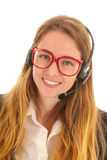 Customer support on the phone Stock Photography