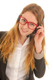 Customer support on the phone Stock Image