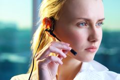 Customer support representative Royalty Free Stock Image