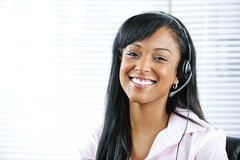 Customer support representative with headset Stock Image