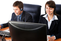 Customer support representatives Stock Photography