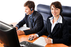 Customer support representatives Stock Photos