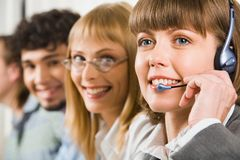 Customer support service stock images