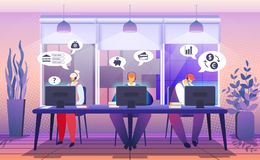 Customer Support Service. Consultant Hotline Chat royalty free illustration