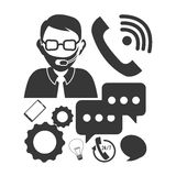 Customer support service icons Royalty Free Stock Photo