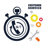 Customer support service icons Royalty Free Stock Image