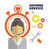 Customer support service icons Stock Images