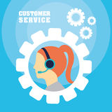 Customer support service icons Royalty Free Stock Photography