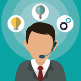 Customer support service icons Royalty Free Stock Photos