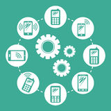 Customer support service icons Stock Photography