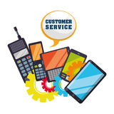 Customer support service icons Stock Image