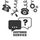 Customer support service icons Stock Photos