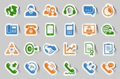 Customer support service sticker icon set stock illustration