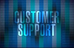 Customer support sign illustration design. Over binary background Stock Images
