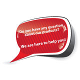 Customer support speech bubble for retailers Royalty Free Stock Photos