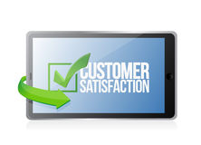 Customer support tablet concept. Illustration design over a white background Royalty Free Stock Photo