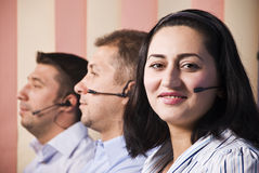 Customer support team Royalty Free Stock Photography