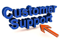 Customer support text Royalty Free Stock Images