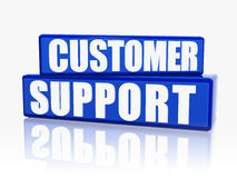 Customer support in blue blocks Stock Images