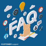 Customer support, tutorial, user guide, FAQ vector concept Stock Photos