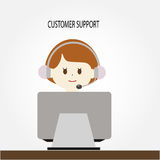 Customer support vector Stock Photography