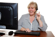 Customer support woman Royalty Free Stock Image