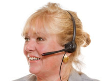 Customer support woman Royalty Free Stock Photos