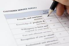 Customer survey Stock Photo