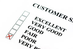 Customer survey. With bad results Royalty Free Stock Images