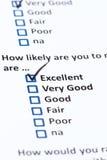 Customer Survey Stock Image
