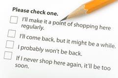 Customer Survey stock photos