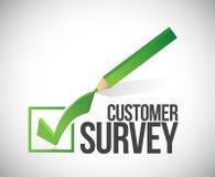 Customer survey check mark illustration design Royalty Free Stock Image