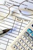 Customer survey form Royalty Free Stock Photos