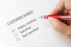 Customer survey Stock Photo