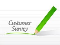 Customer survey message illustration design Royalty Free Stock Images