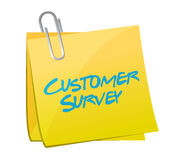 Customer survey post illustration design Stock Photo