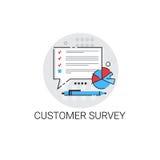 Customer Survey Service Appreciate Icon. Vector Illustration Royalty Free Stock Image