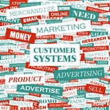 CUSTOMER SYSTEMS Royalty Free Stock Photo