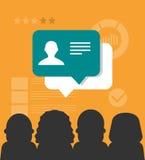 Customer testimonials concept illustration Stock Image