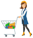 Customer with trolley Stock Images